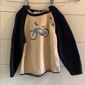 Janie and Jack bicycle sweater